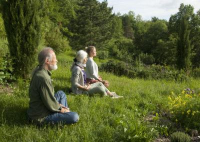 Meditazione nel giardino